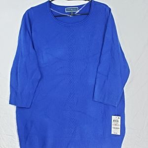 Karen Scott Boat Neck 3/4 Sleeve Sweater